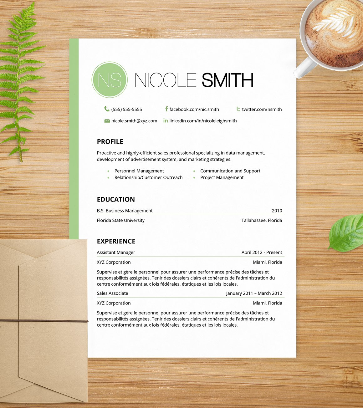 mint green cover letter resume resume templates creative market - Cover Letter And Resume Template