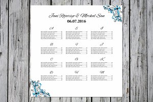 Wedding Seating Chart Poster
