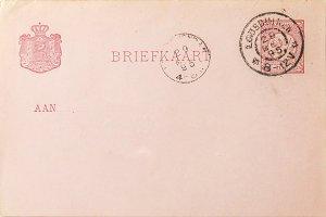 Vintage postcard postmarked 1895