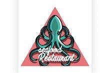 seafood restaurant emblem