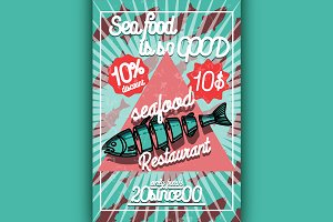 seafood restaurant poster