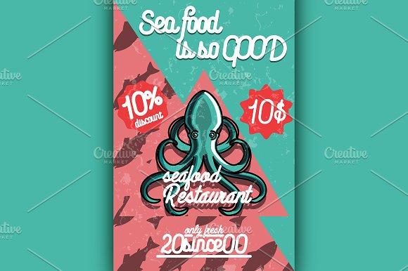 seafood restaurant poster