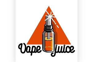 vape, e-cigarette emblem