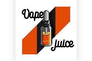 vintage vape, e-cigarette emblem