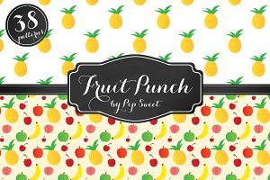 Fruit Punch 38 Seamless Pattern Set