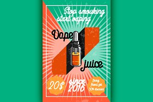 vintage vape, e-cigarette poster