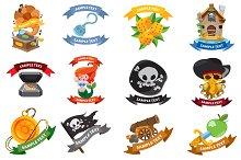 Pirates logo set