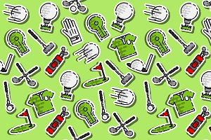 Colored golf pattern