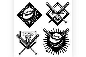 Vintage baseball emblem