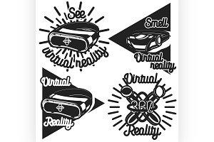 Vintage Virtual Reality emblems