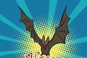 Happy Halloween bat vampire