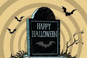 Happy Halloween grave tombstone