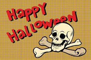 Happy Halloween skull and bones
