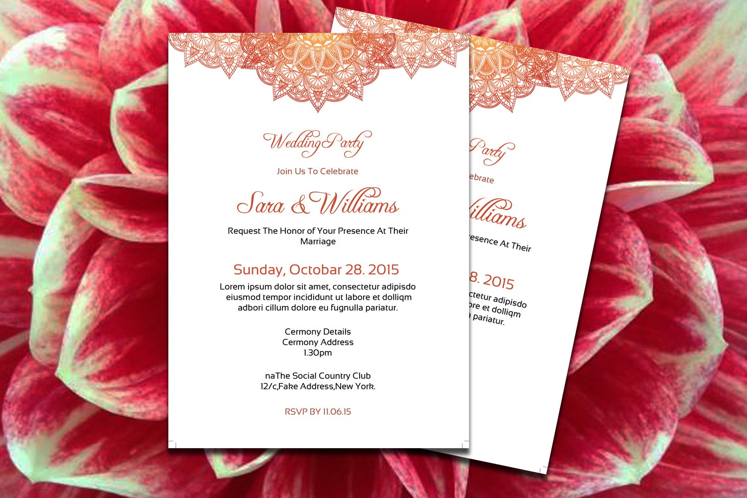 Elegant Wedding Invitation Template ~ Invitation Templates ...