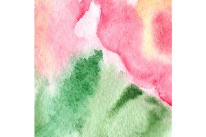 Watercolor floral texture pattern