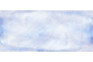 Watercolor blue sky template texture