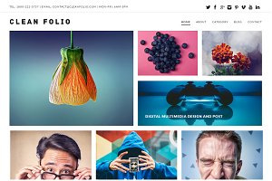 Clean Folio WordPress Theme