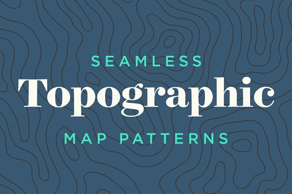 Topographic Map Patterns - Tileable