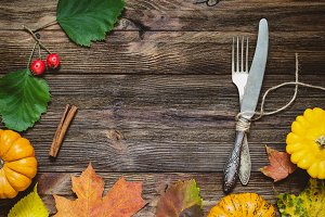 Autumn seasonal table setting