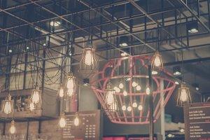 Retro edison light decor