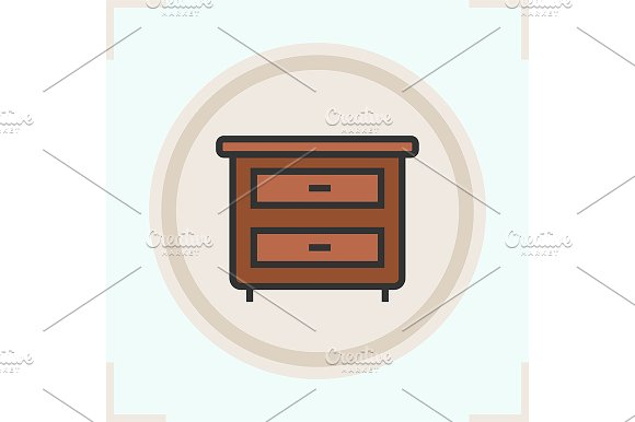 Nightstand color icon. Vector - Icons