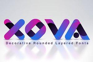 XOVA Layered Font Family