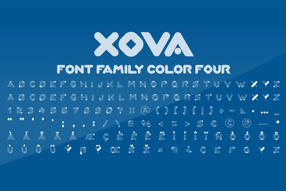 Best XOVA Layered Font Family Vector
