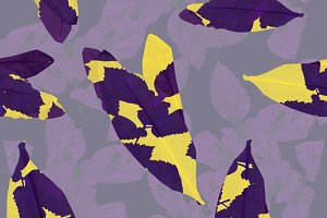 Seamless fashion leaves pattern