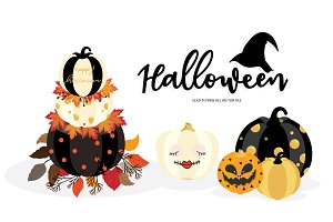 HAPPY HALLOWEEN HAND DRAWN VECTOR