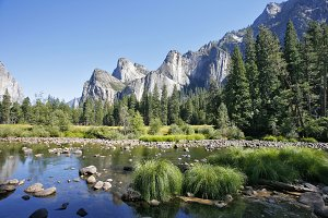 river Mersed in Yosemite park