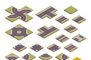 Road vector design elements