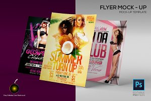 A4 Flyer Mock-up template (5 PSD)