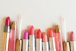 Collection of lipsticks