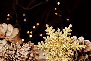Christmas decoration with fir branches