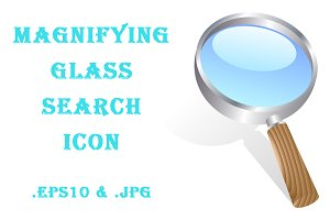 Magnifying glass search icon.