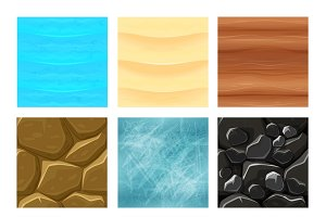 Game ground textures vector