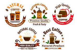 Coffee drinks icons