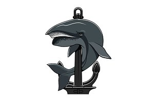 Cachalot whale and Anchor
