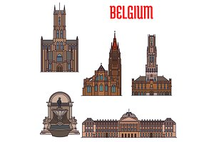 Buildings and landmarks of Belgium