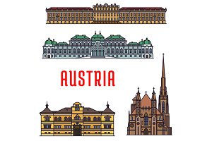 Sightseeing landmarks of Austria
