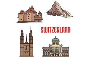 Landmarks of Switzerland