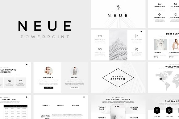 Neue minimal powerpoint template presentation templates for Minimalist powerpoint template free