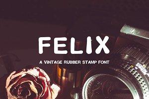 Felix Vintage Rubber Stamp Font