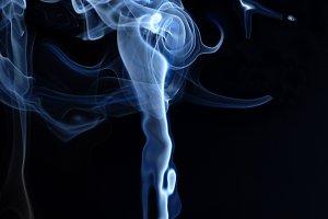 Blue smoke texture