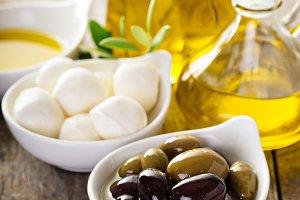Olive oil in vintage bottle