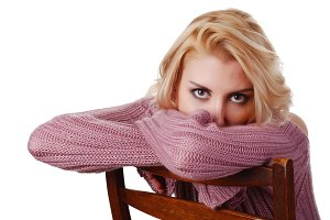woman in sweater