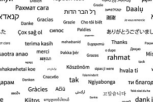 Thanks phrase in different languages