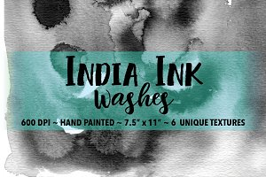 India Ink Wash Backgrounds