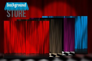 Curtain Stage Background