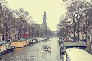 Amsterdam canal boating